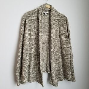 Croft and Barrow green and cream open cardigan